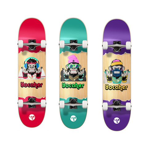 "Yocaher Skateboard 7.5"" Chimp Series"