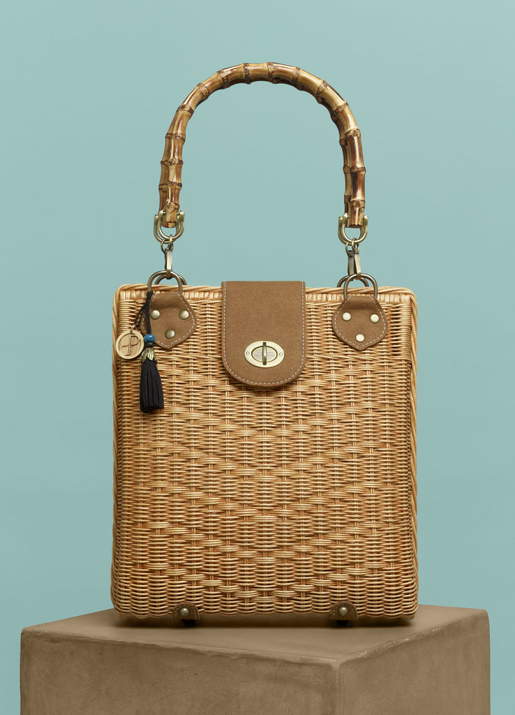 Juniper Rattan Bag, Vegan Leather, Purse for the People