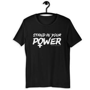 Stand in Your Power Black T-Shirt