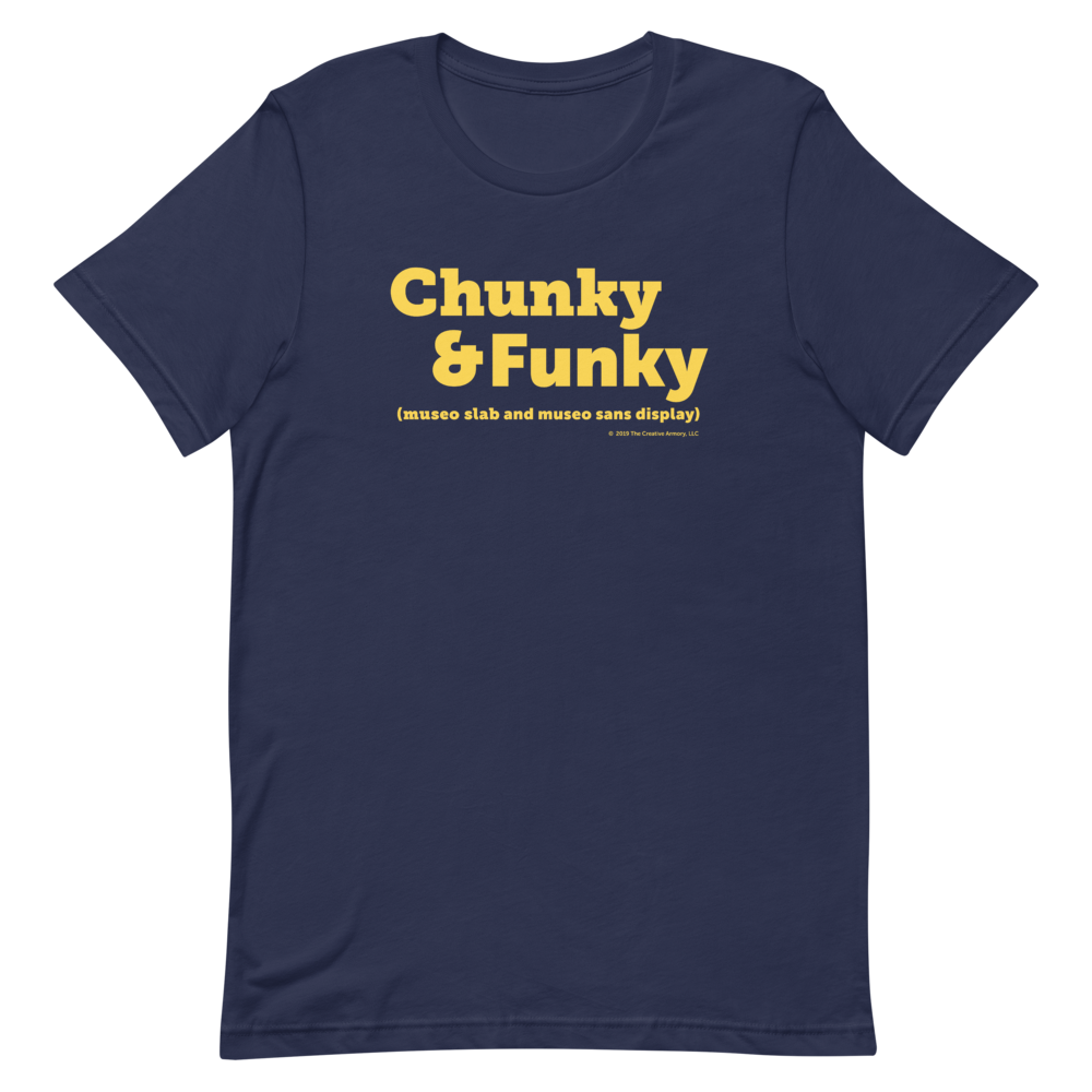 Chunky and Funky Tee (Navy)
