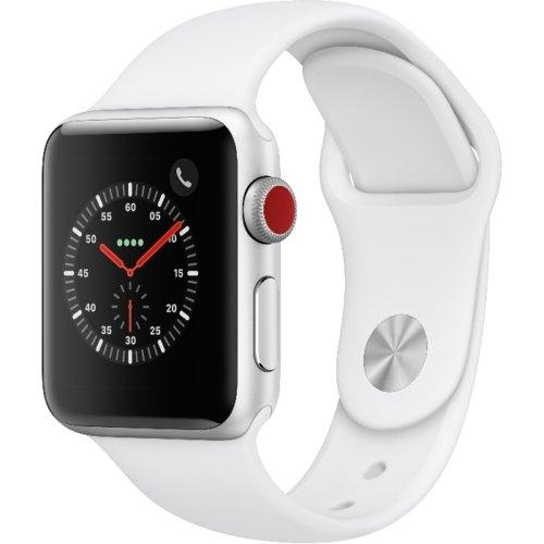 Apple Watch Gen 3 38mm) Silver Aluminum +White Sport Band - Fix Or Cell Now Device Shop