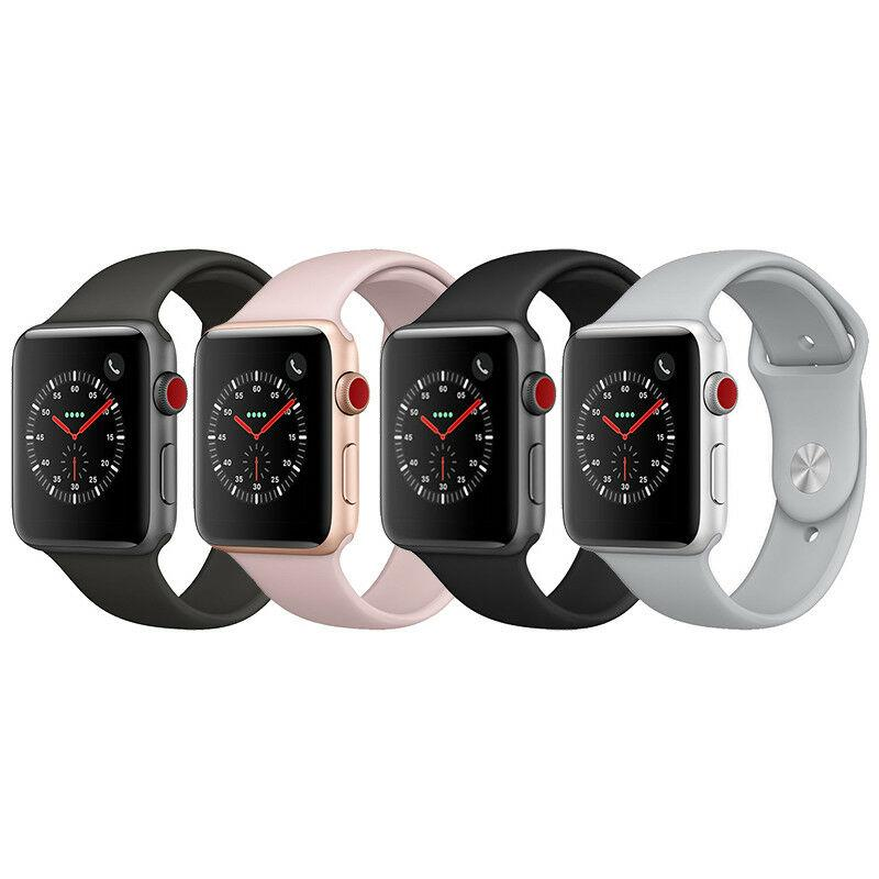 Apple Watch S3 Series 3 GPS Cellular Aluminum 42mm Case with Sport Loop or Band - Fix Or Cell Now Device Shop