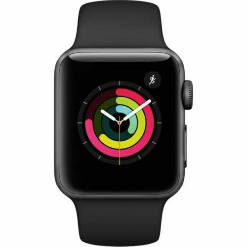 Apple Watch Series 3 GPS 38 mm Space Gray Aluminum Case with Black Sport Band - - Fix Or Cell Now Device Shop