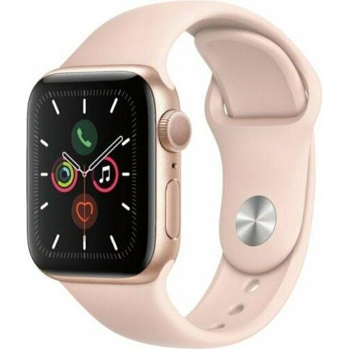 Apple Watch Series 5 40mm Aluminum Gold Case Pink Sand Sport Band GPS MWV72LL/A - Fix Or Cell Now Device Shop