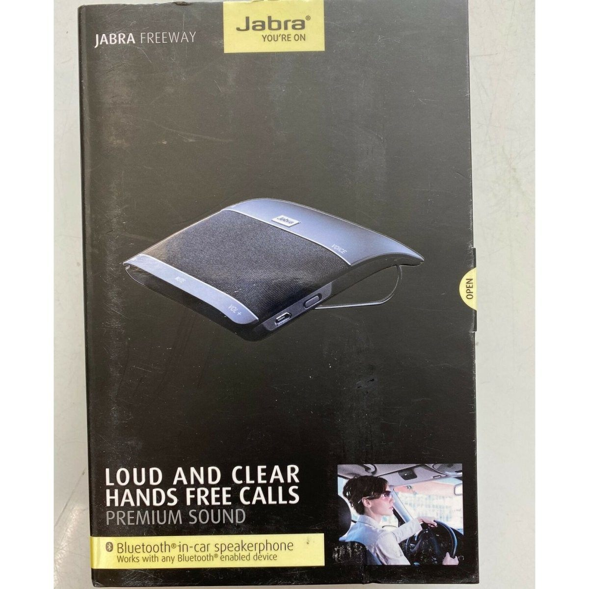 Jabra Freeway Wireless Bluetooth Car Speakerphone-Black - Fix Or Cell Now Device Shop