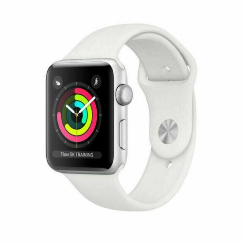 NEW Apple Watch Series 3 GPS 38MM Silver Aluminum Case White Sport Band MTEY2LLA - Fix Or Cell Now Device Shop