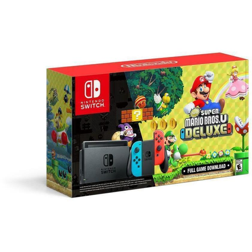 Nintendo Switch 32GB with New Super Mario Bros Console Bundle - Fix Or Cell Now Device Shop