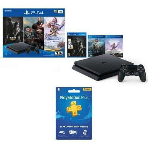 PlayStation 4 Slim 1TB Console Only on PS4 Bundle + PS Plus 3 Month Membership - Fix Or Cell Now Device Shop