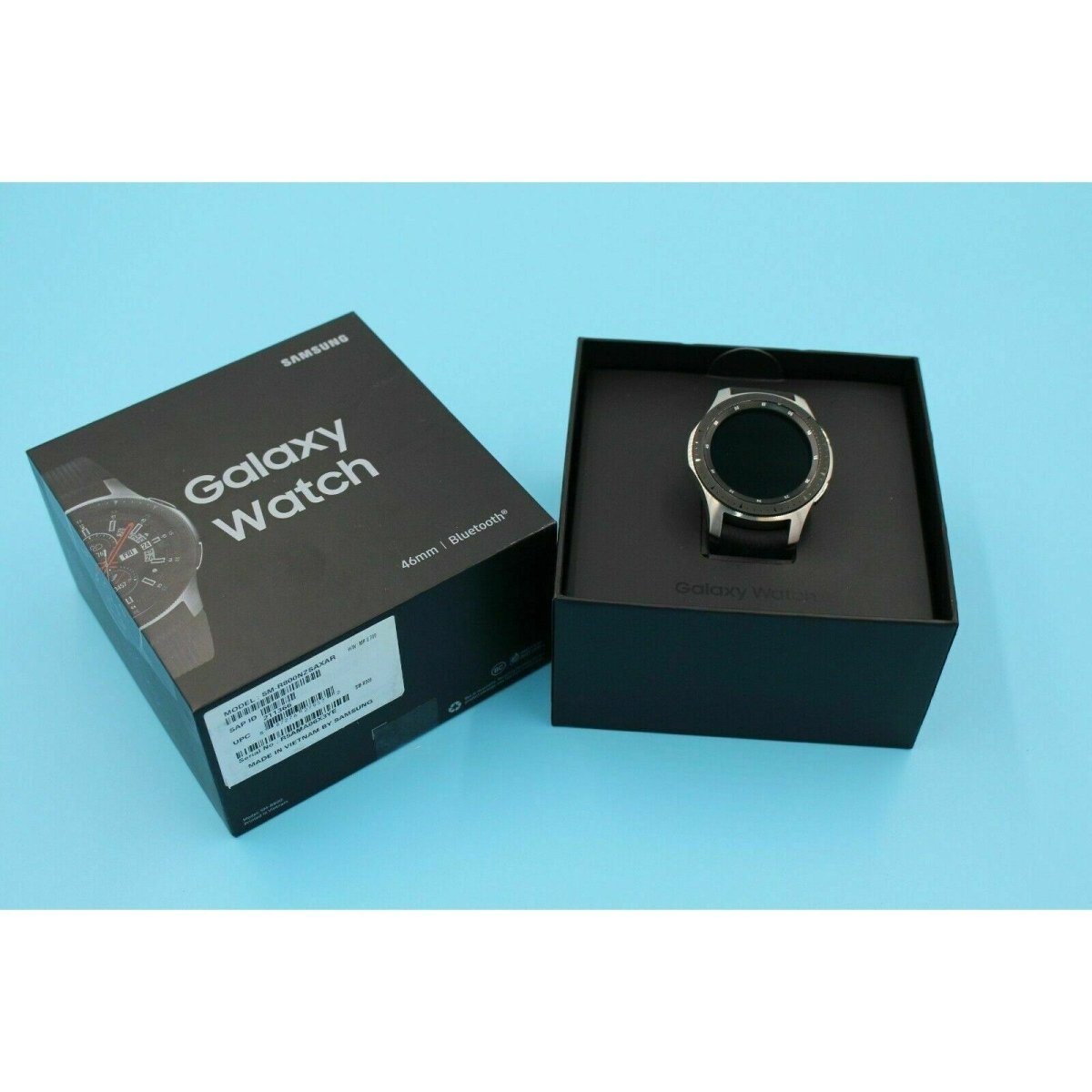 Samsung Galaxy Watch SM-R800 46mm Silver Case Classic Black - Bluetooth - Fix Or Cell Now Device Shop