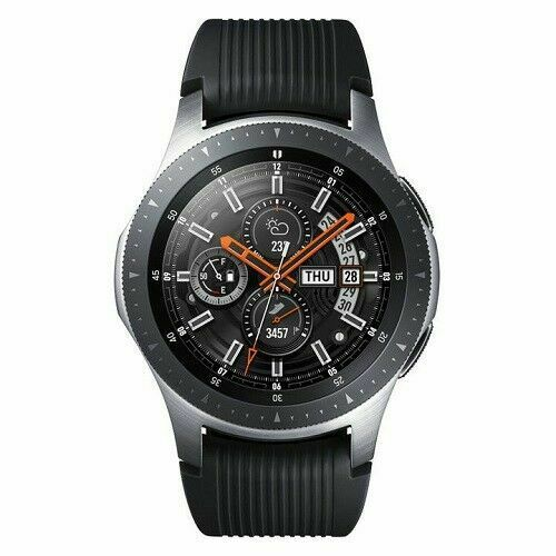 Samsung Galaxy Watch SM-R800 46mm Silver Case Classic Buckle Onyx Black A GRADE - Fix Or Cell Now Device Shop