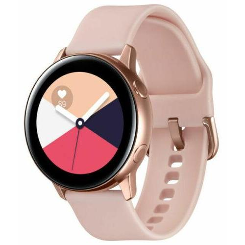 Samsung SM-R500NZDAXAR Galaxy Watch Active (40mm) Bluetooth Rose Gold Small Band - Fix Or Cell Now Device Shop