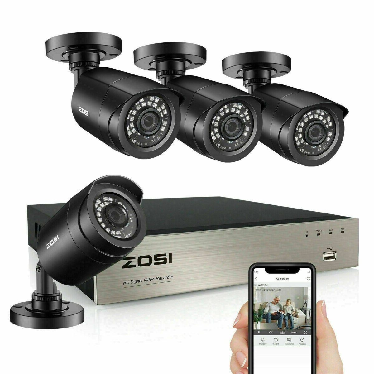 ZOSI 1080p Home Security Camera CCTV Security Camera - Fix Or Cell Now Device Shop