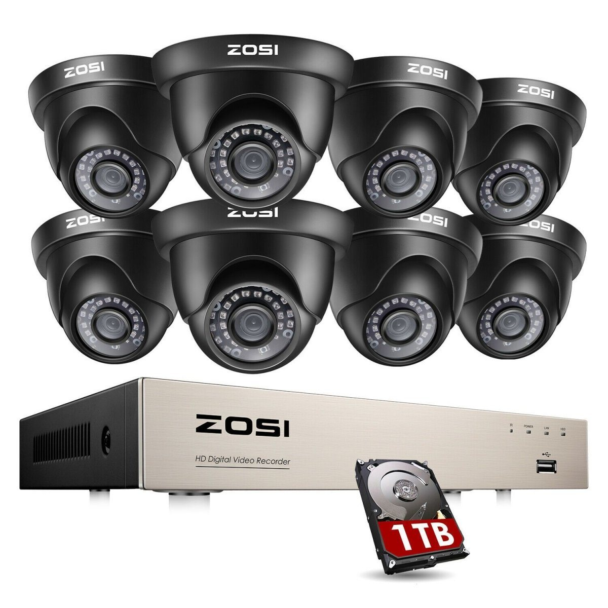 ZOSI 8CH H.265+ CCTV Home Security Camera - Fix Or Cell Now Device Shop
