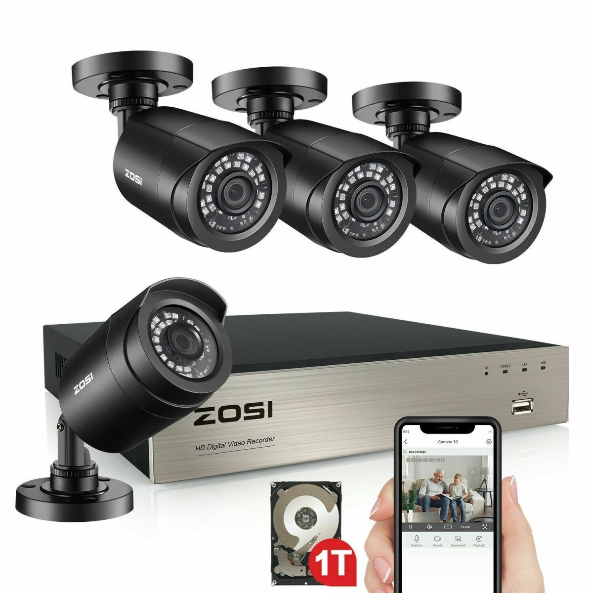 ZOSI H.265+ 8 Channel Outdoor Security Camera - Fix Or Cell Now Device Shop