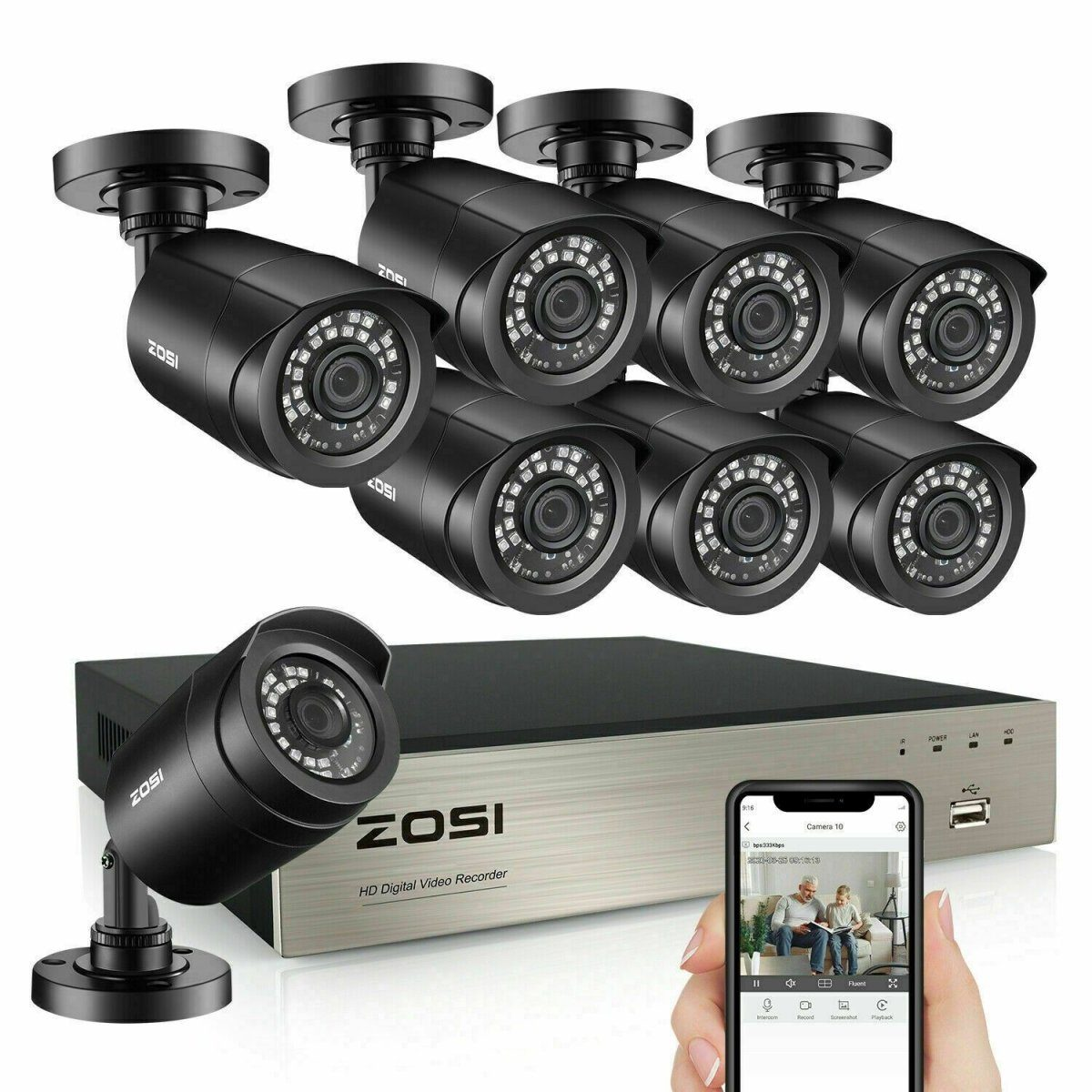 ZOSI 1080p Home Security Camera - Fix Or Cell Now Device Shop