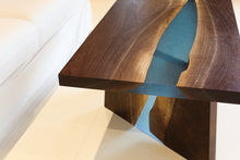 Load image into Gallery viewer, Walnut Coffee Table with Epoxy River