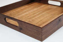 Load image into Gallery viewer, Tiger Maple and Walnut Serving Tray