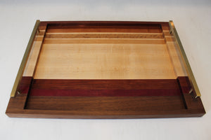 Large Striped Serving Tray