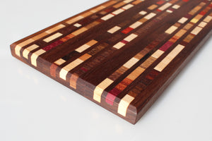 Walnut with Exotic Wood Inlay Serving Board