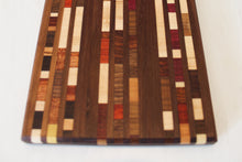 Load image into Gallery viewer, Walnut Charcuterie with Exotic Wood Inlay