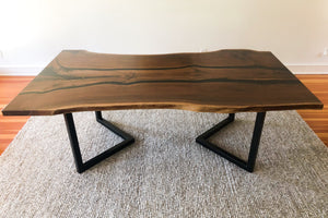 Walnut Dining Table with Epoxy River