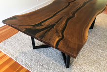 Load image into Gallery viewer, Walnut Dining Table with Epoxy River