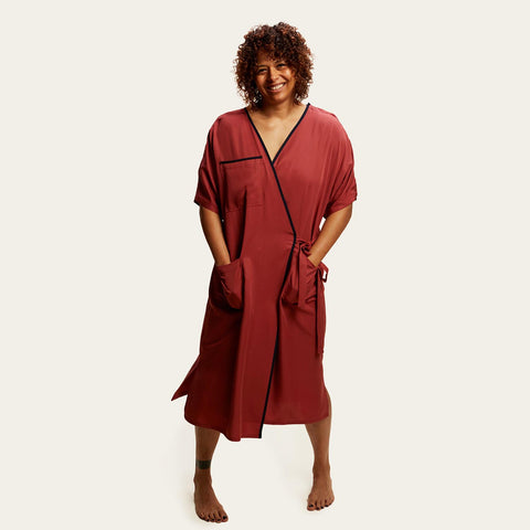 Janesi Comfort Premium Hospital Gown in Rust