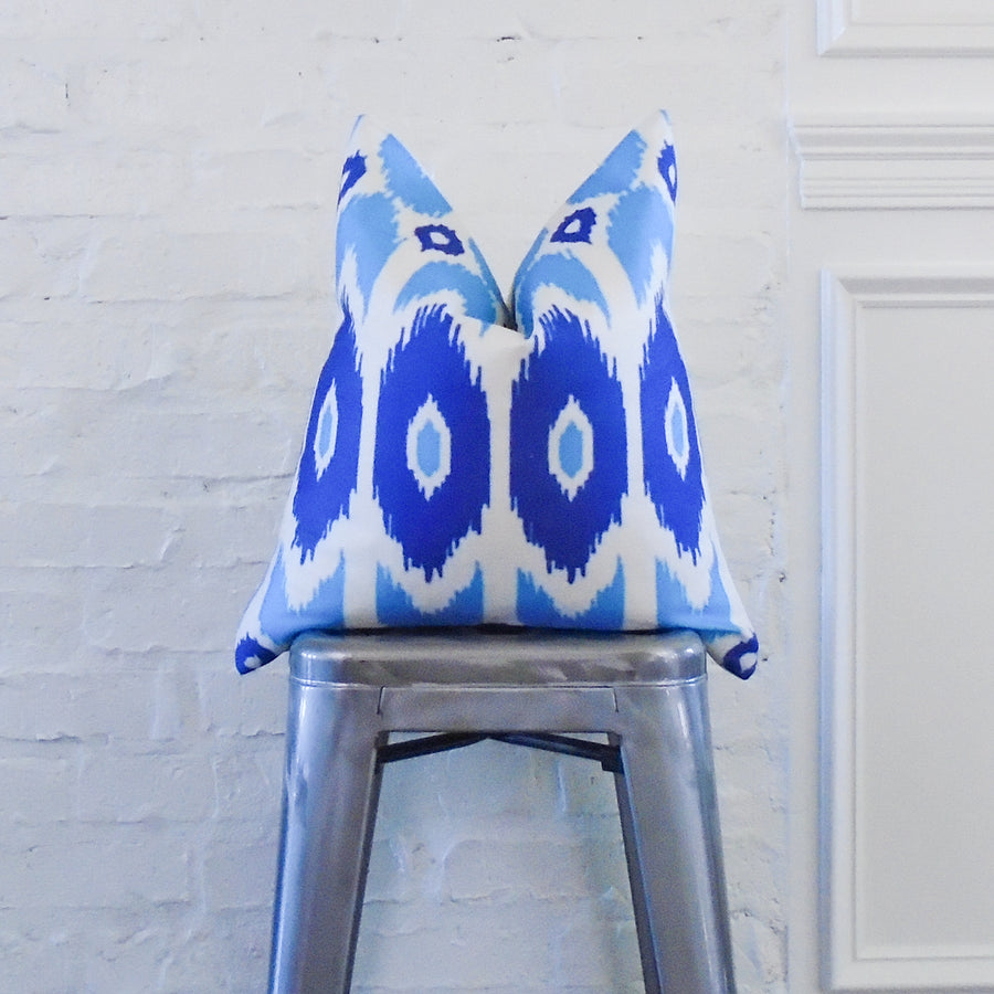 Blue Ikat Arrow