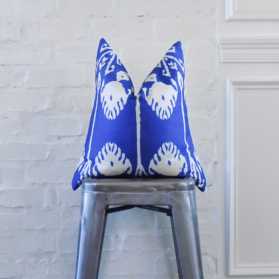 Blue Ikat Scroll
