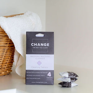 Change washing machine cleaner is perfect as a front load washing machine cleaner and top load washing machine cleaner. Designed to remove dirt and odours. This natural washing machine cleaner will remove any mould.