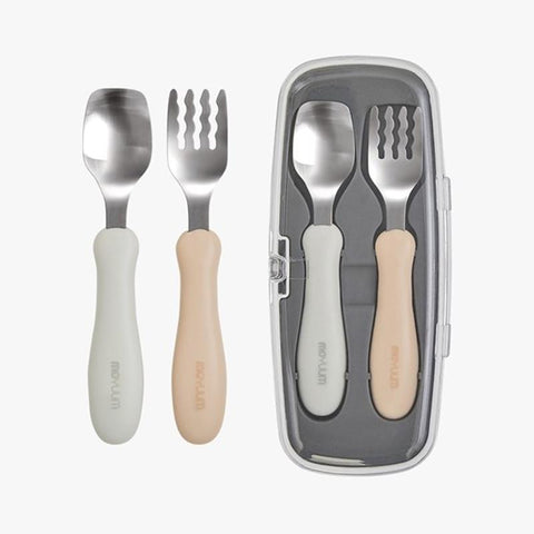 Moyuum Silicon Spoon & Fork Set + Case