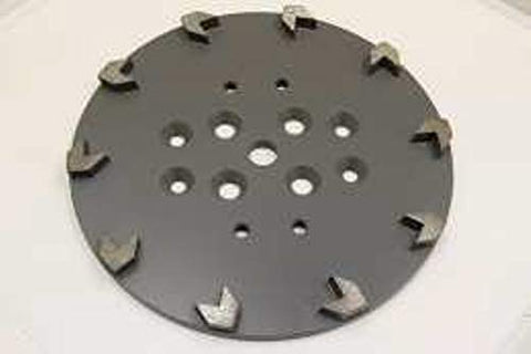 "10"" - 10 Arrow Seg Floor Grinding Plate - Medium Bond"