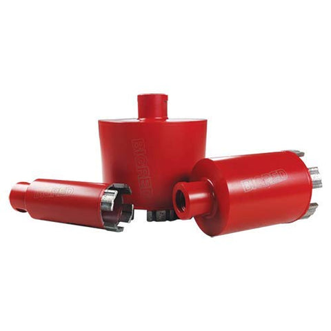 "2-3/8-Inch Diamond Core Bit - Wet - Big Red Turbo 5/8""-11 For Granite & All Natural Stones - 8mm"
