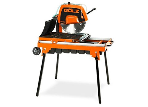 "Masonry Table Saw by GÖLZ - MS400 - Cutting length 28"" (700 mm) Blade: 16"" (400 mm) Cut Depth: 5 3/8″ (137 mm) + 4 Free 16"" Diamond Blade"