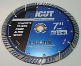 5 or 10 Pack of iCut Turbo Diamond Blades 10mm Seg All Purpose for Concrete +