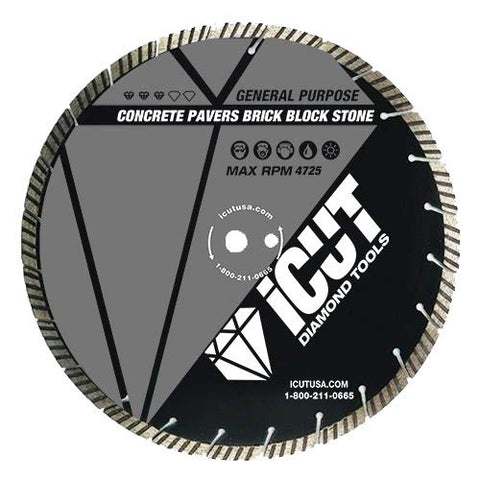 "10""TURBO SEGMENTED GENERAL PURPOSE 10mm DIAMOND BLADE"