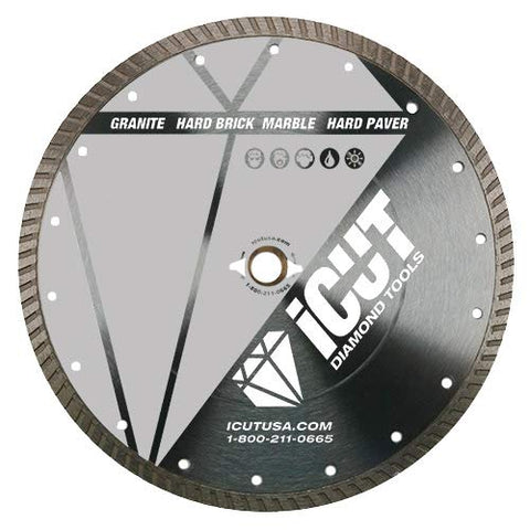 "7-Inch All Purpose Diamond Blade - Continuous Rim - Arbor: 5/8""-7/8"" - Great for cutting Concrete, Block, Pavers"