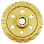 "4-Inch Crack Chaser Blade - Continuous V Shape 5/8""-11 Threaded - for Groove cutting Masonry, Hard Concrete, Brick, Block, Pavers, Asphalt"