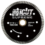 7-Inch Thin Rim Turbo Diamond Blade - Professional Grade - Reinforced on both Sides For Cutting Granite, Ceramic, Marble,