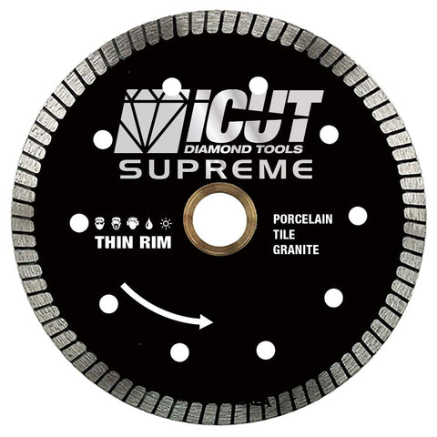 2 Pack 4-Inch Thin Rim Turbo Diamond Blade - Reinforced on both sides For Cutting Ceramic Tile, Tile and Porcelain Tile