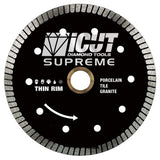 6-Inch Thin Rim Turbo Diamond Blade - Professional Grade - Reinforced on both Sides For Cutting Granite, Ceramic, Marble,