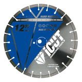 "12"" Diamond Blade for Professional Cutters - Water Drop Slot Segments - THE BRICKYARD cuts Cured Concrete, Hard Pavers, Hard Brick, Concrete Pipe and Terrazzo"