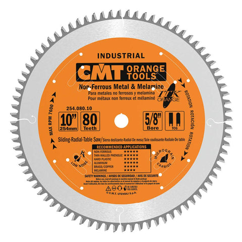 CMT 254.056.07 ITK Industrial Non-Ferrous Metal & Melamine Blade, 7-1/4-Inch Diameter X 56 Teeth with 5/8-Inch<> Bore, PTFE-Coated