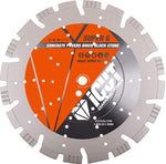 "All purpose Diamond Blade 15mm Alternating Turbo and Wedge Segments Laser Welded cutting Concrete Asphalt (18"")"