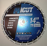 iCut Supreme Turbo Diamond Blade 10mm High Segment All Purpose for Concrete Block Brick Pavers