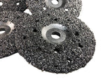 "5 Pack of Ultra Wheels GRIT 16 Grinding Silicon Carbide Heavy Duty Discs Threaded 5/8""-11 - Diameter 7"""