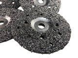 "5 Pack of Ultra Wheels GRIT 8 Grinding Silicon Carbide Heavy Duty Discs Threaded 5/8""-11 - Diameter 7"""
