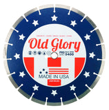16-Inch Made in USA Old Glory Diamond Blade General Purpose, Brick, Block, Concrete