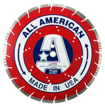 16-Inch Made in USA All American Diamond Blade with Drop Segment Undercut Protection For Asphalt Reinforced Concrete, Brick, Block, Stone