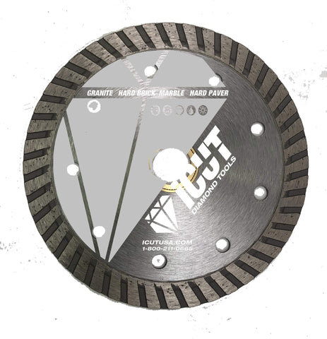 "4-Inch All Purpose Diamond Blade - Continuous Rim - Arbor: 5/8""-7/8"" - Great for cutting Concrete, Block, Pavers"